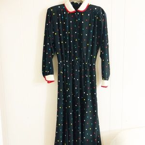 Vintage Doncaster II Polka Dot Dress|Size 10.